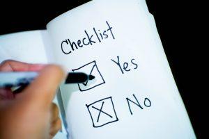 Manuskript einreichen Checkliste