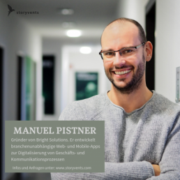 Virtuelle Transformation Manuel Pistner Vortrag Keynote Speaker